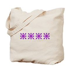 Purple Jacks Tote Bag