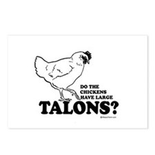 Do the chickens have large talons? Postcards (Pack