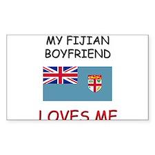 My Fijian Boyfriend Loves Me Rectangle Decal