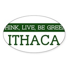 Green ITHACA Oval Decal
