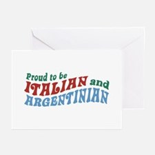 Proud Italian and Argentinian Greeting Cards (Pk o