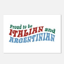 Proud Italian and Argentinian Postcards (Package o