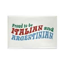 Proud Italian and Argentinian Rectangle Magnet