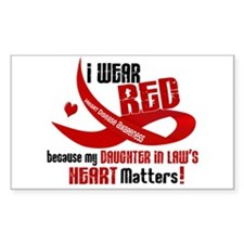 Red For Daughter-In-Law Heart Disease Decal