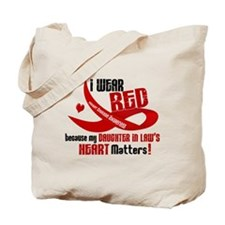 Red For Daughter-In-Law Heart Disease Tote Bag