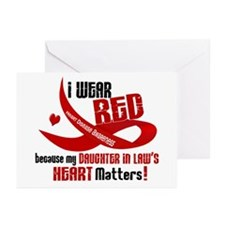 Red For Daughter-In-Law Heart Disease Greeting Car