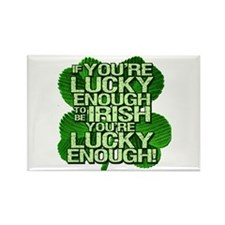Lucky Enough To Be Irish Rectangle Magnet (100 pac