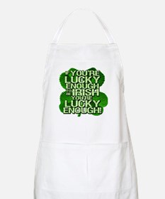 Lucky Enough To Be Irish BBQ Apron