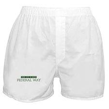 Green FEDERAL WAY Boxer Shorts