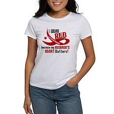 Red For Husband Heart Disease Shirt Tee