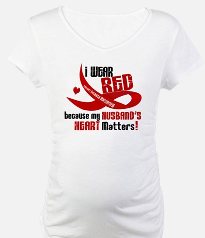 Red For My Husband Heart Disease Shirt