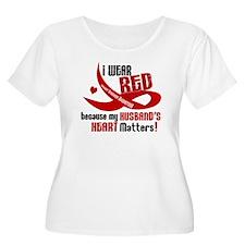 Red For Husband Heart Disease Shirt T-Shirt
