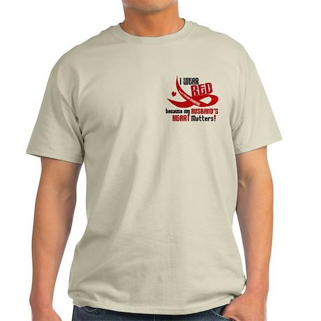 Red For Husband Heart Disease Shirt Light T-Shirt