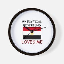My Egyptian Boyfriend Loves Me Wall Clock
