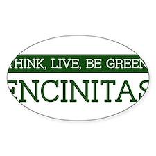 Green ENCINITAS Oval Decal
