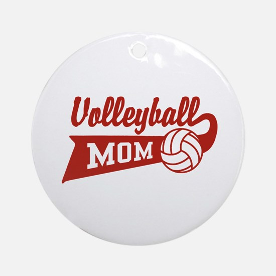 Volleyball Mom Ornament (Round)
