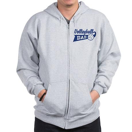Volleyball Dad Zip Hoodie