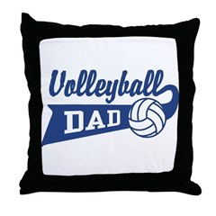 Volleyball Dad Throw Pillow