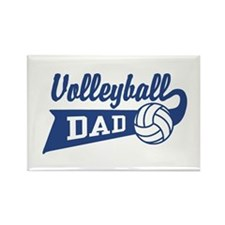 Volleyball Dad Rectangle Magnet