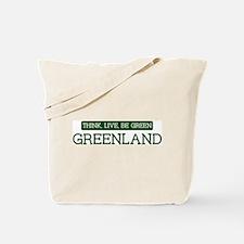 Green GREENLAND Tote Bag