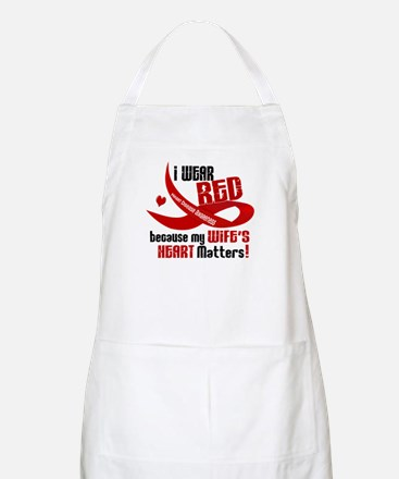 I Wear Red For My Wife Heart Disease BBQ Apron