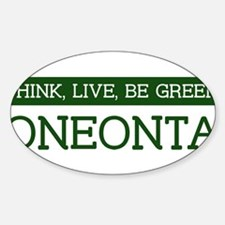 Green ONEONTA Oval Decal
