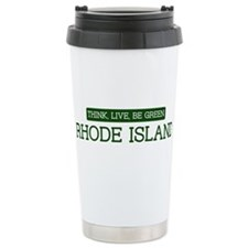 Green RHODE ISLAND Travel Mug