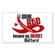I Wear Red For Me Heart Disease Decal