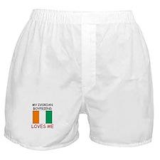 My Ivorian Boyfriend Loves Me Boxer Shorts