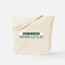 Green MINNEAPOLIS Tote Bag