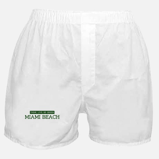Green MIAMI BEACH Boxer Shorts