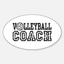 Volleyball Coach Oval Decal
