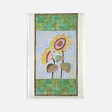 Cute Poinsettia quilt Rectangle Magnet (10 pack)