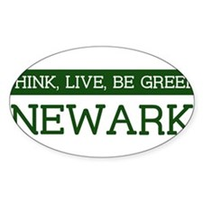 Green NEWARK Oval Decal