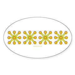 Yellow Jacks Sticker (Oval 10 pk)