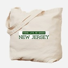 Green NEW JERSEY Tote Bag