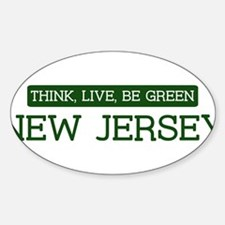 Green NEW JERSEY Oval Decal