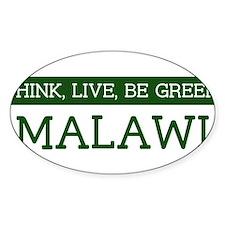 Green MALAWI Oval Decal