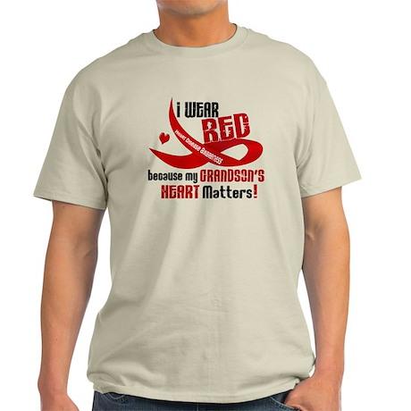 Red For My Grandson Heart Disease Light T-Shirt