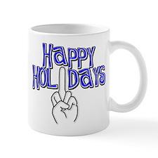 happy holidays middle finger Hanukkah Mug