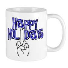 happy holidays middle finger Hanukkah Small Mug