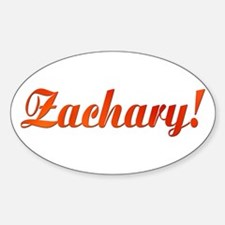 Zachary! Design #785 Oval Decal
