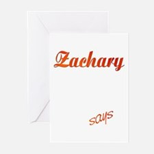 Zachary! Design #785 Greeting Cards (Pk of 10)