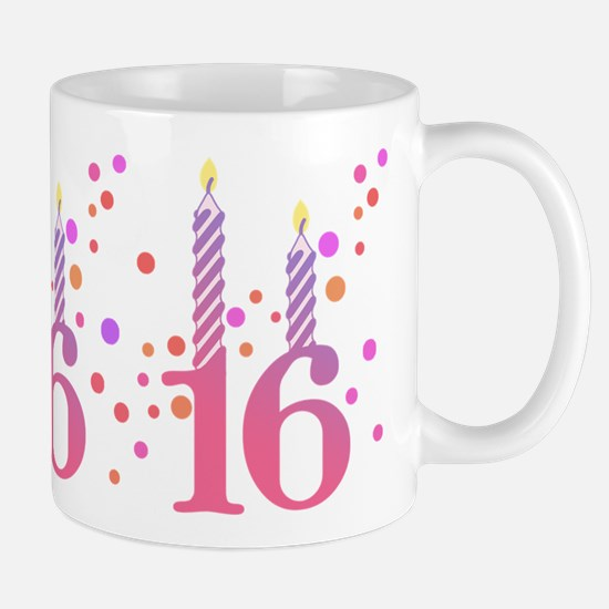 16th Birthday Candles Mug