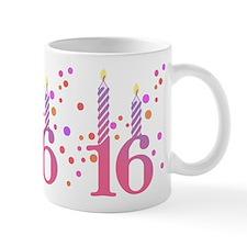 16th Birthday Candles Small Mug