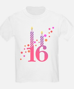 16th Birthday Candles T-Shirt