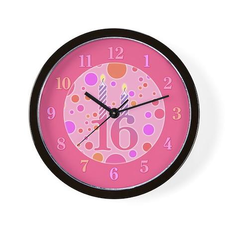 16th Birthday Candles Wall Clock