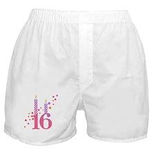 16th Birthday Candles Boxer Shorts
