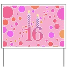 16th Birthday Candles Yard Sign