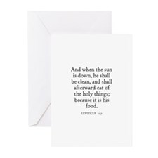 LEVITICUS  22:7 Greeting Cards (Pk of 10)
